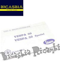 7116 - LIBRETTO USO E MANUTENZIONE RIPRODUZIONE VESPA 50 SPECIAL 3 MARCE