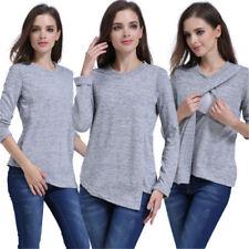 Tee Women Maternity Top Breastfeeding T-shirt Nursing Clothes Pregnant Womens