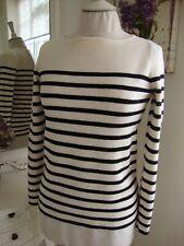 Bretagne stripe 100% Merino Wool Jumper. Size S.