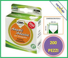 Conf. 200 Angolini per Album Foto LEBEZ - 1 8x2 cm