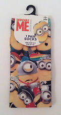 Primark Ladies UNIVERSAL STUDIOS PARTY MINIONS DRESS UP Socks UK 4-8 (EU 37-42)