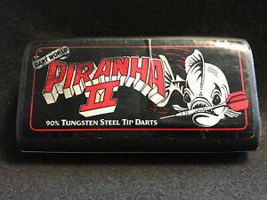Vtg Dart World Piranha II 90% Tungsten Steel Tip Darts 3 Parts
