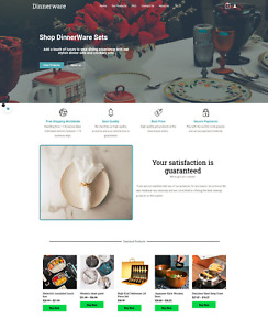 Dinnerware Products Online Dropship Website Business For Sale + Marketing Guide