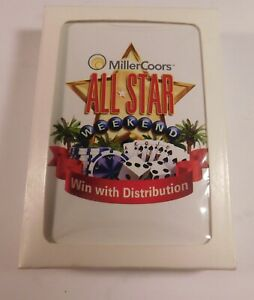 """MillerCoors All Star Weekend """"Win with Distribution"""" Playing Cards - NOS - LOT 2"""