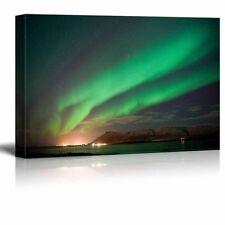 "Canvas -  Aurora Borealis or the Northern Lights North of Reykjavik- 24"" x 36"""