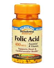 Sundown Folic Acid 400 mcg Tablets 350 ea