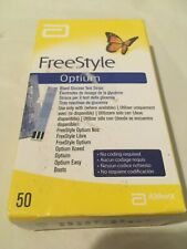 Freestyle Optium Blood Glucose Monitoring Test Strips x 50 for Xceed Neo Libre