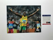 Usain Bolt Rare! signed autographed Olympic 8x10 Photo PSA/DNA cert