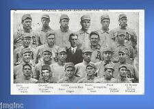 1910 Philadelphia Athletics Postcard reproduction postmarked 10/28/1910