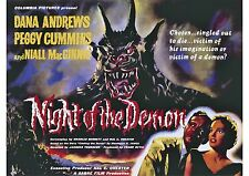 Night of the Demon (2) - Dana Andrews - A4 Laminated Mini Movie Poster