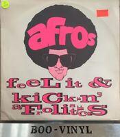 """the afros 12"""" vinyl record feel it - kickin a frolistics Ex Con"""