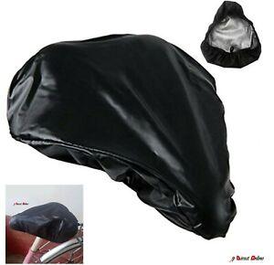 Waterproof Bike Seat Cover Bicycle Saddle Plastic Elastic Rain Cover Protective