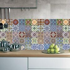 30 pcs Mexican Talavera Self Adhesive Tile Stickers Kitchen Backsplash Decor
