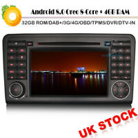 "7""CD Car DVD Player GPS Android 8.0 DAB+Autoradio Mercedes ML/GL-Class W164 X164"
