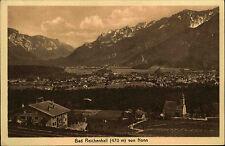 BAD REICHENHALL Bayern alte AK Häuser Totalansicht 1912 Verlag Stengel & Co.