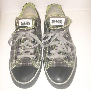 Converse Men's Sz 11.5 Mccoy Allstar Black Gray Plaid Lace Up Sneakers Shoes