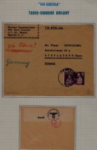 Philippines/Germany cover Trans-Siberian railway 1940