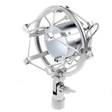 Pro Silver Microphone Mic Shock Mount fits many MXL