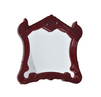 Dolls House Wall Mirror in Victorian Shaped Frame Miniature 1:12 Accessory