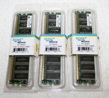 3-1GB DDR PC3200 DESKTOP MEMORY MODULE 184 Pin DIMM, 400MHZ Edge Techicorp