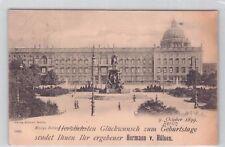 SELTEN Foto AK 1899 @ eingedruckter persönl. Glückwunsch @Berlin Königl. Schloss