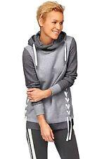 X0276 KangaROOS Damen Sweatshirt mit Kapuze Hoodie (grau 36/38)