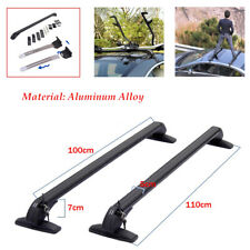 Car Roof Luggage Rack Baggage Carrier Cross Aluminum Antitheft Lock Universal