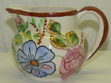 "Vintage Old Blue Ridge Anne Painted Rose Pansy Floral 4.5"" Pitcher Antique Shape"