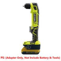 Dewalt 18V/20V(Max) Slider Li-ion Battery to Ryobi 18V Tools Adapter w/USB PORT