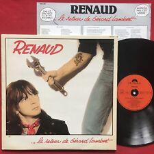 RENAUD ~ LE RETOUR DE GERARD LAMBERT (1981) FRANCE PRESS LP ALT ROCK POLYDOR
