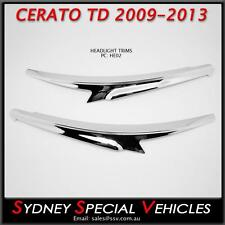 EYEBROWS FOR KIA CERATO KOUP & HATCH TD 2009-13 - CHROME HEADLIGHT TRIMS COVERS