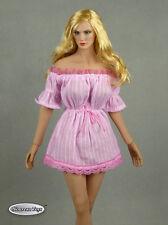 1/6 Phicen, Hot Toys, Kumik, Nouveau Toys - Sexy Female Pink Lace Romper Dress