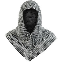 MEDIEVAL ALUMINUM CHAINMAIL COIF CHAIN MAIL HOOD MEDIEVAL ARMOR
