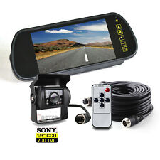 "12/24V 7"" Rear view Mirror Monitor + Reversing Sony CCD Camera For Van Motorhome"