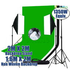 Photography Photo Softbox Screen Black White Green Backdrop Background Stand Kit
