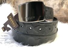 NWT COACH Mens Wide CONVERTIBLE Belt In Brown & Black Embossed Signature Leather