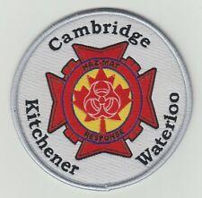 Cambridge Kitchener Waterloo Haz-Mat Response Patch, Ontario