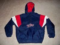 Vtg Majestic Minnesota Twins Baseball Pullover Windbreaker Jacket Coat Men's XL