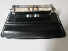 Calendrier perpétuel en cuir noir pour bureau