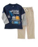 Kids Headquarters Little Boys' 2-Pc. Long-Sleeve T-Shirt & Pants Set -  Size 6