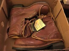 Steel Toe Carolina Boots Brown Lace Up Size 8 New
