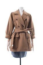 Vintage SAINT LAURENT Rive Gauche Women's Trench Coat Jacket Camel Color