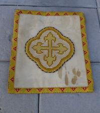 BOURSE ancienne broderie Prêtre Curé Eglise vêtement objet religieux