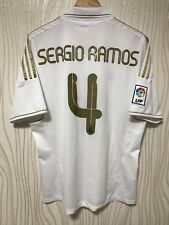 REAL MADRID 2011 2012 ADIDAS HOME FOOTBALL SOCCER SHIRT JERSEY CAMISETA #4 RAMOS