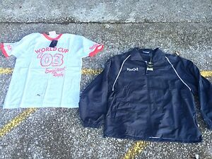 England Rugby Union T Shirt & Kooga made for rugby Jacket Large Bnwt