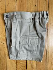 New Lands End kids unisex boys girls khaki cargo uniform short size 4S slim