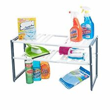 NEW Adjustable Under Sink 2 Shelf Kitchen Bathroom Organizer Storage Rack Holder