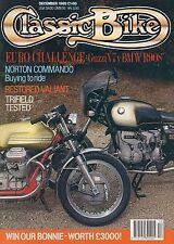 Classic Bike Dec 89   Guzzi V7  BMW R90S  Velocette Valiant   Norton Commando