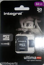 Integral 32GB Class10 MicroSD Cell Phone Memory Card for Blackberry Q5 Q10 Z10