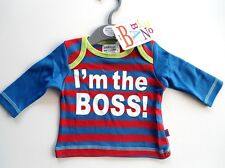 "MAGLIETTA T-SHIRT "" I´M THE BOSS! ""  NEONATO 50 CM"